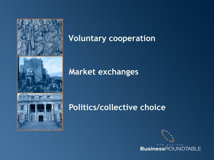 Voluntary cooperation