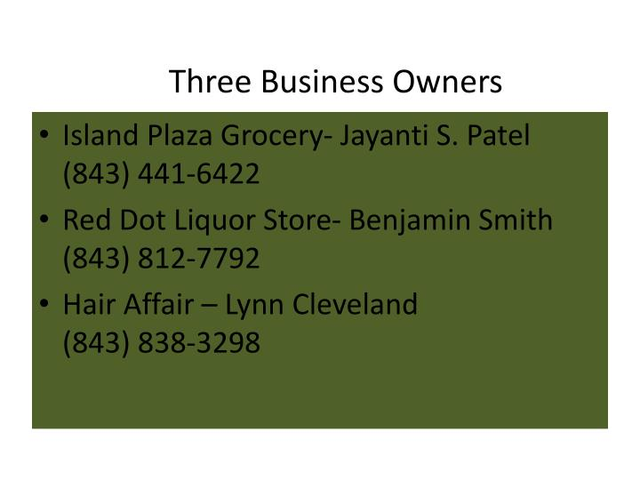 Three business owners