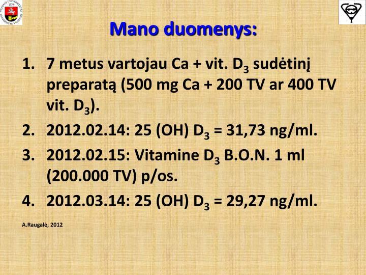 Mano duomenys: