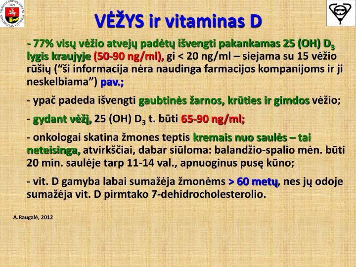 VĖŽYS ir vitaminas D