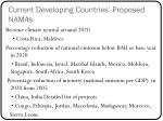 current developing countries proposed namas
