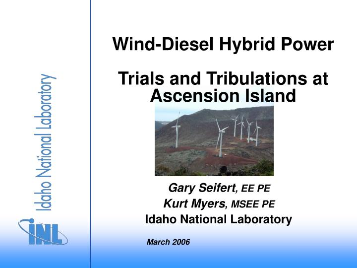wind diesel hybrid power trials and tribulations at ascension island n.