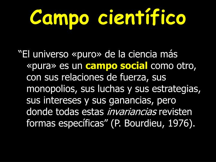campo cient fico n.