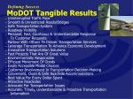 modot tangible results