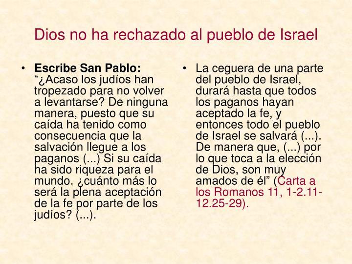 Escribe San Pablo: