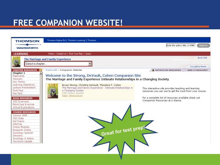 FREE COMPANION WEBSITE!