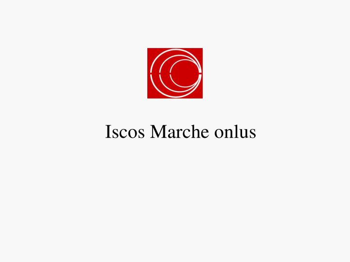 iscos marche onlus n.