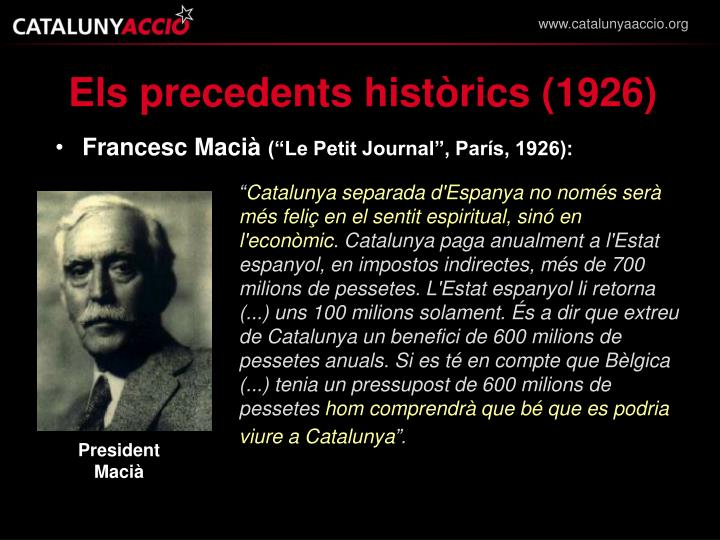 Els precedents històrics (1926)
