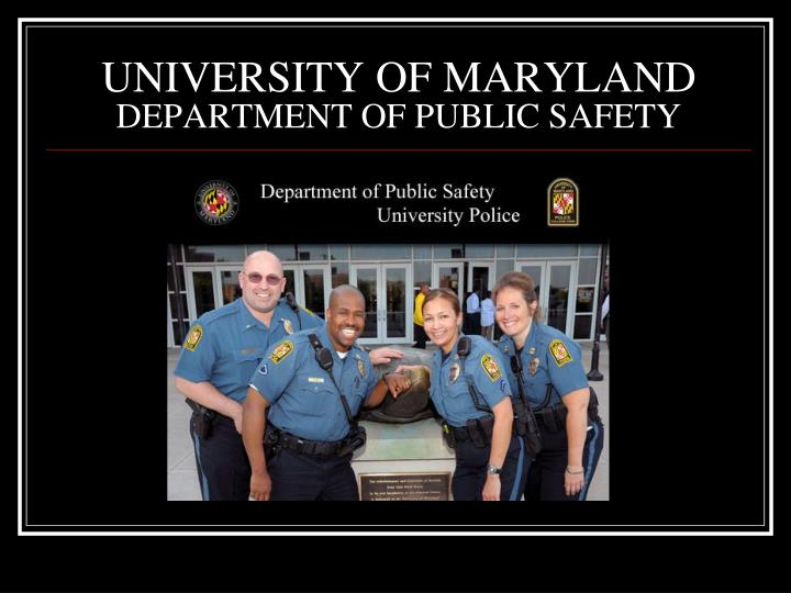 university of maryland department of public safety n.