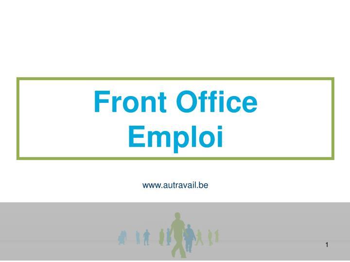 front office emploi n.