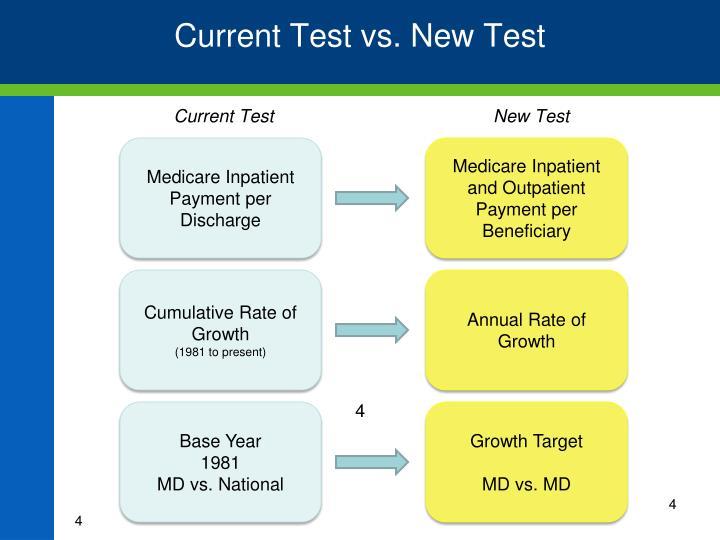 Current Test vs. New Test
