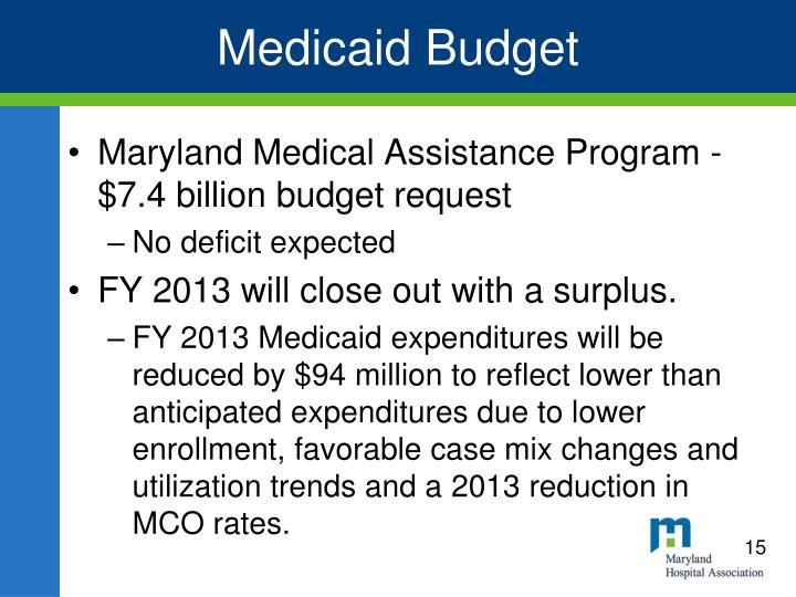 Medicaid Budget