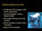 observations by arto