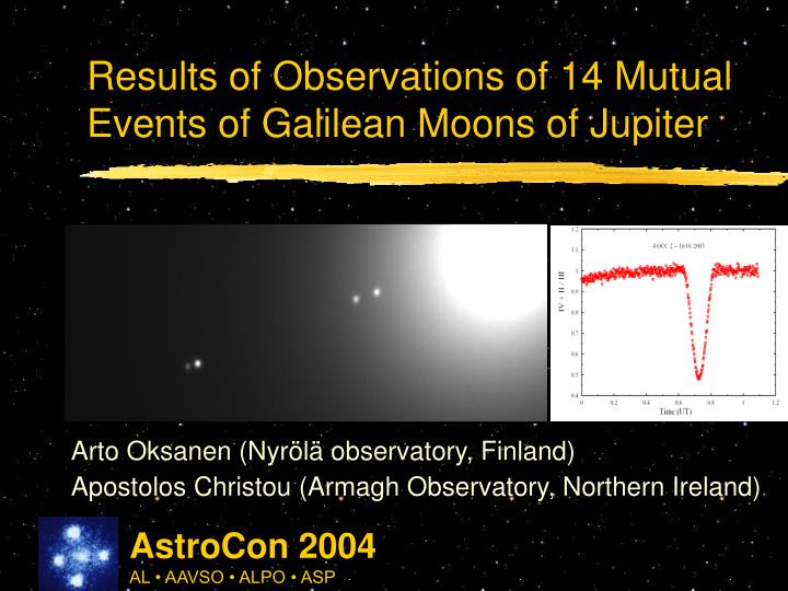 results of observations of 14 mutual events of galilean moons of jupiter n.