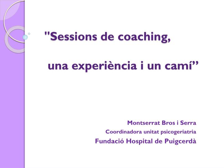 sessions de coaching una experi ncia i un cam