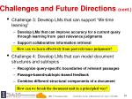 challenges and future directions cont