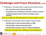 challenges and future directions cont1