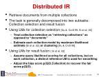 distributed ir
