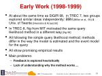 early work 1998 1999