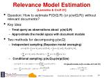 relevance model estimation lavrenko croft 01