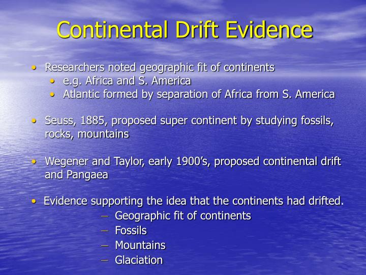 Continental Drift Evidence