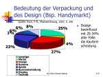 bedeutung der verpackung und des design bsp handymarkt