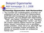 beispiel eigenmarke aldi homepage 21 1 2008