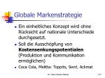 globale markenstrategie