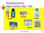 handelsmarken eigenmarken bsp aldi