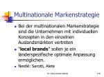 multinationale markenstrategie