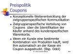 preispolitik coupons
