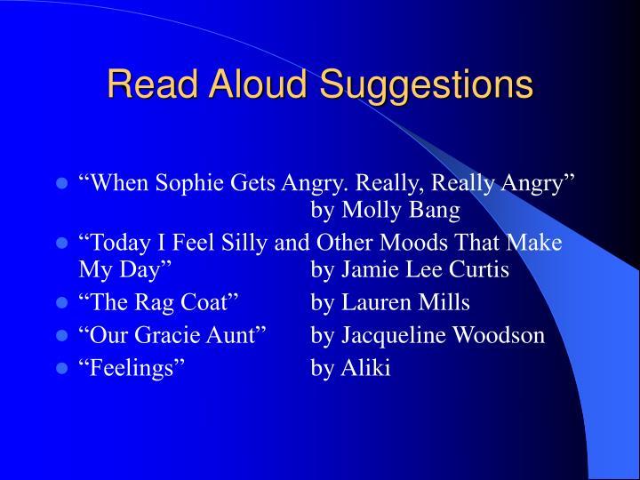 Read Aloud Suggestions