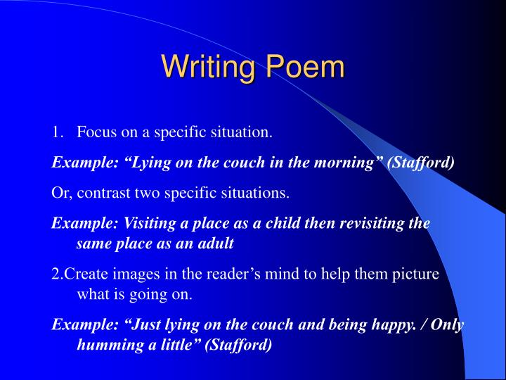 Writing Poem