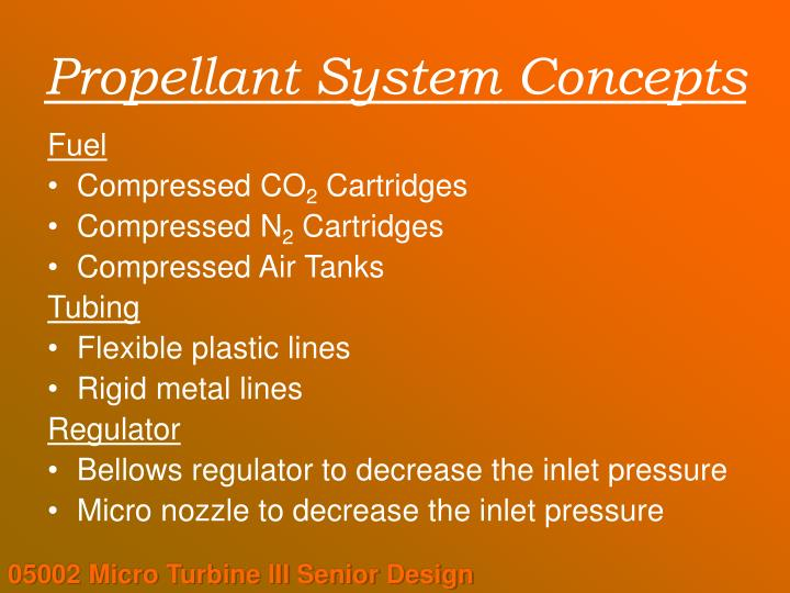 Propellant System Concepts