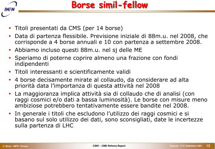 Borse simil-fellow