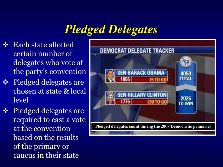 Pledged Delegates