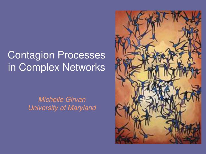 contagion processes in complex networks n.