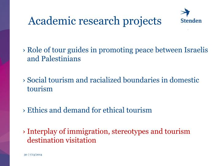 Academic research projects
