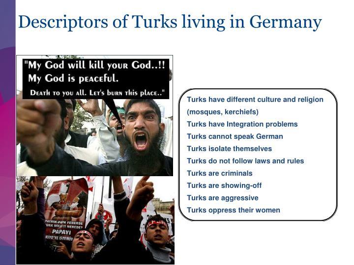 Descriptors of Turks living in Germany