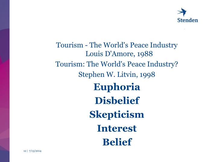 Tourism - The World's Peace Industry