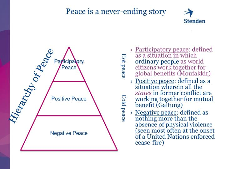 Peace is a never-ending story