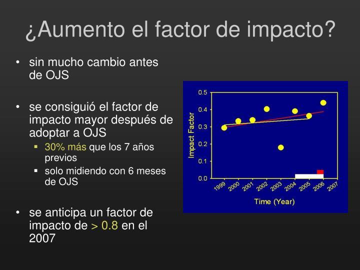 ¿Aumento el factor de impacto?