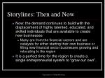 storylines then and now10