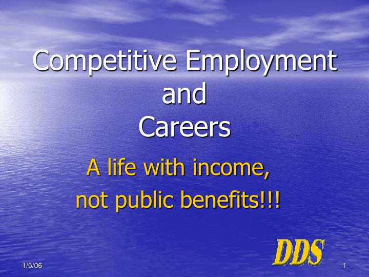 competitive employment and careers n.