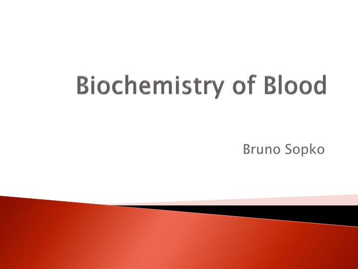 biochemistry of blood n.
