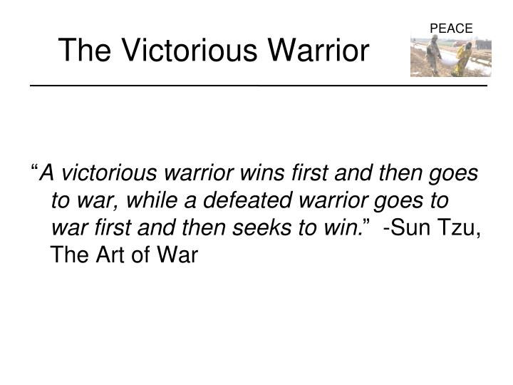 The victorious warrior