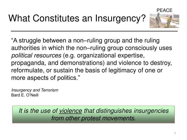 What Constitutes an Insurgency?