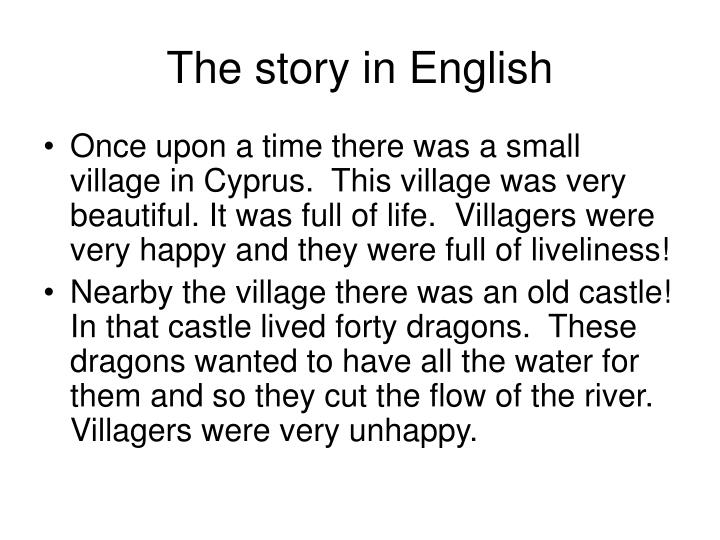 The story in English