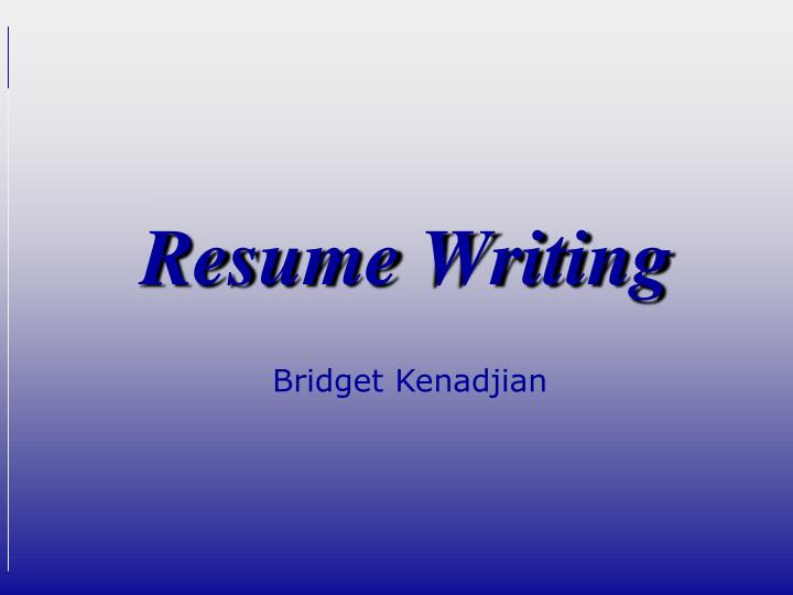Resume Writing