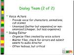 dialog team 2 of 2
